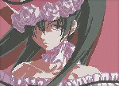 Kuroshitsuji Ciel Phantomhive Anime Cross Stitch PDF Pattern by Ambershore on Etsy Perler Bead Art, Perler Beads, Pixel Art Grid, Black Butler Characters, Pix Art, Nerd Crafts, Anime Pixel Art, Black Butler Anime, Minecraft Pixel Art