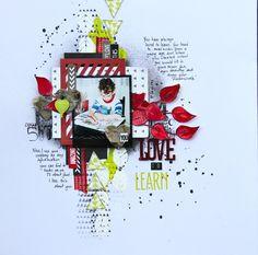 #papercraft #scrapbook #layout    By Karen Watson
