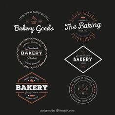 Insignias vintage de panadería Vector Gratis