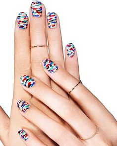 pattern play, nail art by essie looks. express your creativity with a frame-worthy nail art design that goes with everything. New Nail Art Design, Best Nail Art Designs, Nail Designs Spring, Rainbow Nail Art Designs, Colorful Nail Designs, Nail Polish Art, Nail Polish Colors, Ongles Bling Bling, Nagel Bling