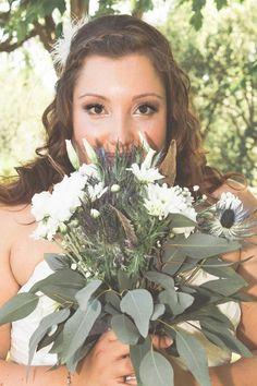 Intense look of the bride