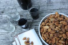 Spiced almonds via sweet home Spicy Almonds, Dog Food Recipes, Spices, Sweet Home, Kitchen, Spice, Cuisine, House Beautiful, Kitchens