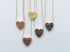 Hand Stamped Heartbeats Necklace - Young Blood Boutique Atlanta