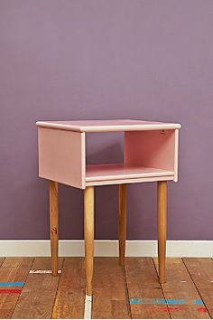 Open Night Stand in Light Pink