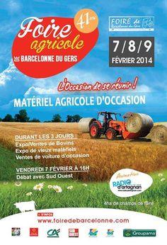 Foire agricole. Du 7 au 9 février 2014 à Barcelonne-du-Gers.