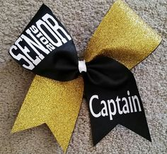 Senior 2016 cheer bow. Cheer bow. Bow. by CurlyNoodleCreations
