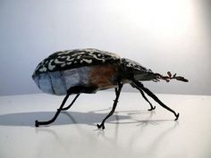 paper mache - i should make examples of common museum pests