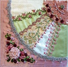 beaded crazy quilt block...how beautiful.