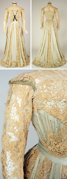 1902-1903 Silk Dress, American. Via Metropolitan Museum of Art.
