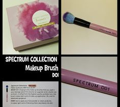 MichelaIsMyName: Spectrum Collection Makeup Brush D01 REVIEW
