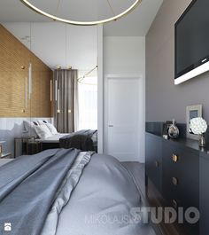 Aranżacje wnętrz - Sypialnia: Elegancka sypialnia - MIKOŁAJSKAstudio. Przeglądaj, dodawaj i zapisuj najlepsze zdjęcia, pomysły i inspiracje designerskie. W bazie mamy już prawie milion fotografii!
