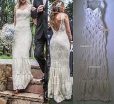 Crochet wedding dress Handmade White Dress wedding dress