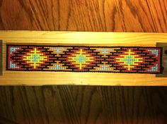 Beadwork on a loom