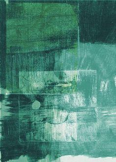 Green Abstract - by mila blau Green Art, Blue Art, Abstract Drawings, Abstract Art, Aquarium Decorations, Foto Art, 2d Art, Art Sketches, Painting & Drawing