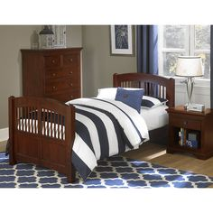 NE Kids Walnut Street Hayden Spindle Twin Bed - Chestnut | from hayneedle.com