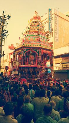 Cart festival at Coimbatore, India.
