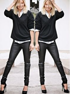 A little leather's good! Leather pants