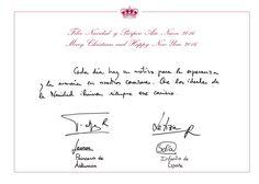 2015 Christmas Card for Spain's royal family 12/7/2015