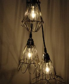 I personally really like this style it's a old style hanging light fixture with a clear globe and rusty grill. It's ideal for a old house with a rustic feel to it or you can even put this in a area such as the basement or wine cellar.