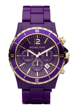 Michael Kors..purple and gold. Love
