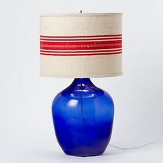 I have thought about stenciling my Frenchie stripe on plain Jane drum lampshades.