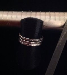 Size 5 1/2  Sterling Silver set of 3 stackable rings