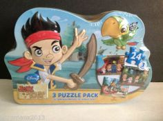 Disney Jake and the Never Land Pirates 3 Puzzle Pack, Cardinal Industries