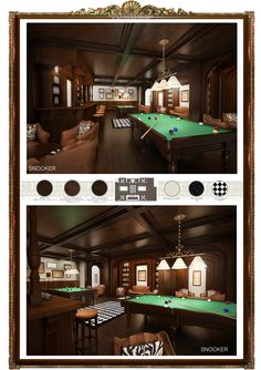 Perspective Interior Design Snooker Club