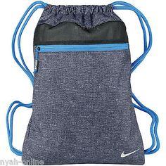 NEW Nike SWOOSH GYM BAG *BLACK* SPORTS MENS LADIES DRAWSTRING GOLF SHOULDER SACK