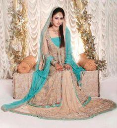 Sky blue Indian wedding dresses
