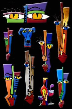 The best in original abstract art, pop art, modern art, sculpture and modern paintings. Large paintings using bright colors and bold lines that make you smile. ******Sculpture work will take 5 7 days to be recreated ! Modern Art Sculpture, Sculpture Painting, Abstract Sculpture, Wall Sculptures, Abstract Art, Painting Art, Art Paintings, Bronze Sculpture, Wood Sculpture