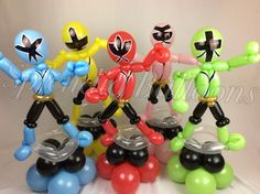 Balloon art, amazing, cool, party, splendid balloons, John Justice, cute, adorable, amazing, California, , power rangers, classic, shows, 90s, wow, team