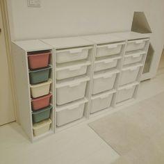 おもちゃ収納/IKEA/スクエアボックス/ダイソー/トロファスト風/トロファスト…などのインテリア実例 - 2017-01-09 00:59:29 | RoomClip(ルームクリップ)