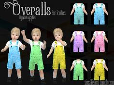- 6 colors.  Found in TSR Category 'Sims 4 Toddler Female'