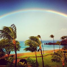 The view from our balcony in Maui two days ago! #miracle