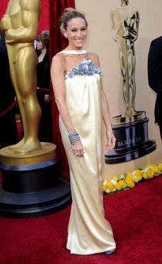 Sarah Jessica Parker. Always loved this dress (and her hair)!