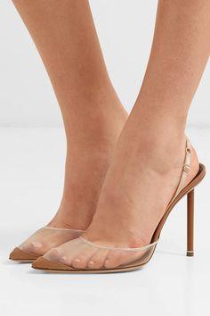 Alexander Wang alix mesh and suede slingback pumps. Pointed Toe Pumps, High Heel Pumps, Pumps Heels, Stiletto Heels, Flats, Sandals, Alexander Wang, Transparent Heels, Nude Shoes