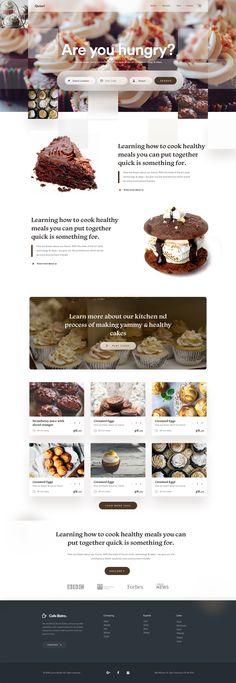 Food home delivery web concept for 2019 Food Web Design, Site Web Design, App Design, Healthy Meals To Cook, Healthy Cooking, Bagel Cafe, Patisserie Design, Graphic Design Brochure, Bakery Logo