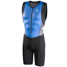 Synergy Men's Triathlon Trisuit (Blue/Black, Large) - http://www.exercisejoy.com/synergy-mens-triathlon-trisuit-blueblack-large/fitness/