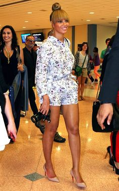 Beyonce. Love her romper! Super chic