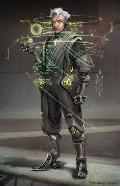 cyberpunk, robot, android, cyborg