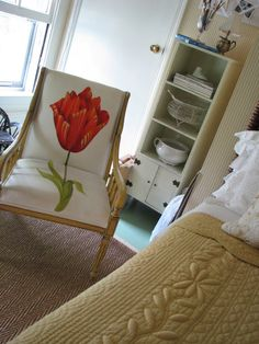 Country French Antiques: tulip chair