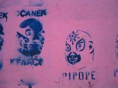 lucha libre graffiti by elizajanecurtis, via Flickr