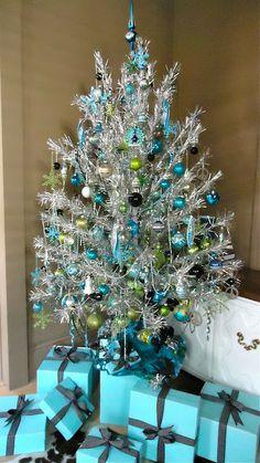 elegant red/blue christmas decoration | Elegant Tiffany Blue Christmas Decor | AMAZING DESIGN FOR LESS