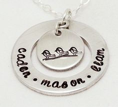 Hand Stamped Necklace  Name Necklace  Little by ImprintedDesigns, $27.00