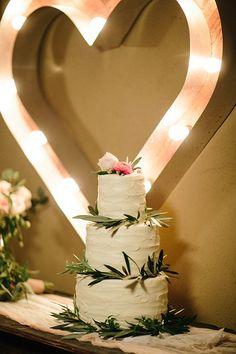 Intimate Desert Chic Palm Springs Wedding Cake