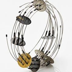 Maria Rosa Franzin - bracelet - Bangle steel, silver, gold