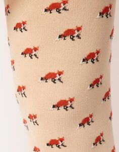 fox tights, fox socks would be even cooler!