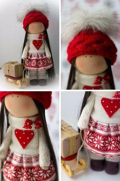 Love tilda doll Art doll Christmas doll by AnnKirillartPlace