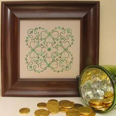 Posted this new design over on the About.com Embroidery Site.  Tony already ate all the chocolate coins...  http://embroidery.about.com/od/Embroidery-Patterns-Projects/ss/Embroidered-Shamrocks-Pattern.htm